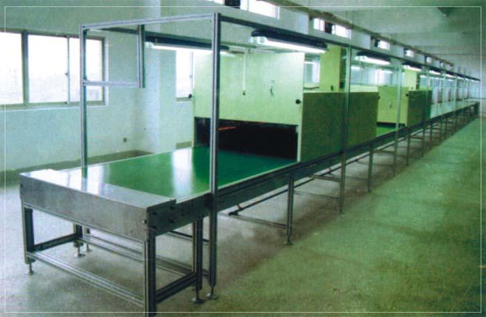 生产线设备铝材皮带结构烘干流水线