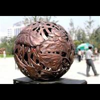 铜雕 圆形摆件