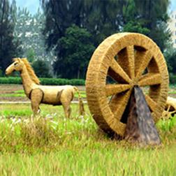稻草雕塑动物马