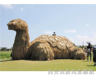 稻草雕塑 乌龟