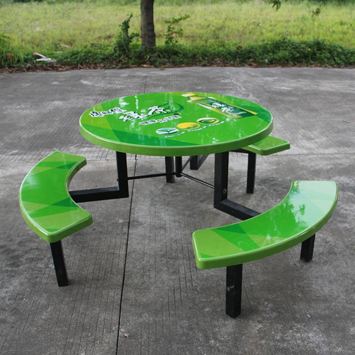 户外百事可乐广告桌椅厂家订制 四人位广告桌椅