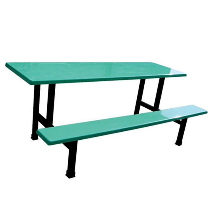 厂家直销玻璃钢连体餐桌椅 六人单边条凳餐桌 员工食堂餐桌
