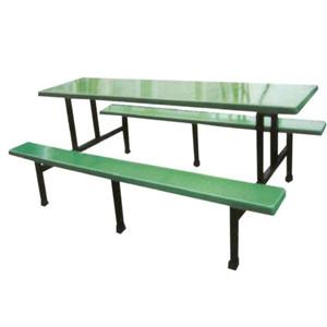 厂家直销十人位玻璃钢连体条学校工厂员工凳食堂餐桌椅批发