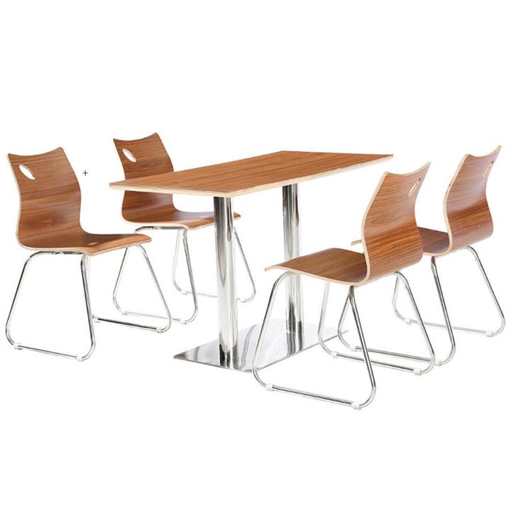 四人位分体餐桌 快餐店餐桌椅 学校食堂餐桌椅图片