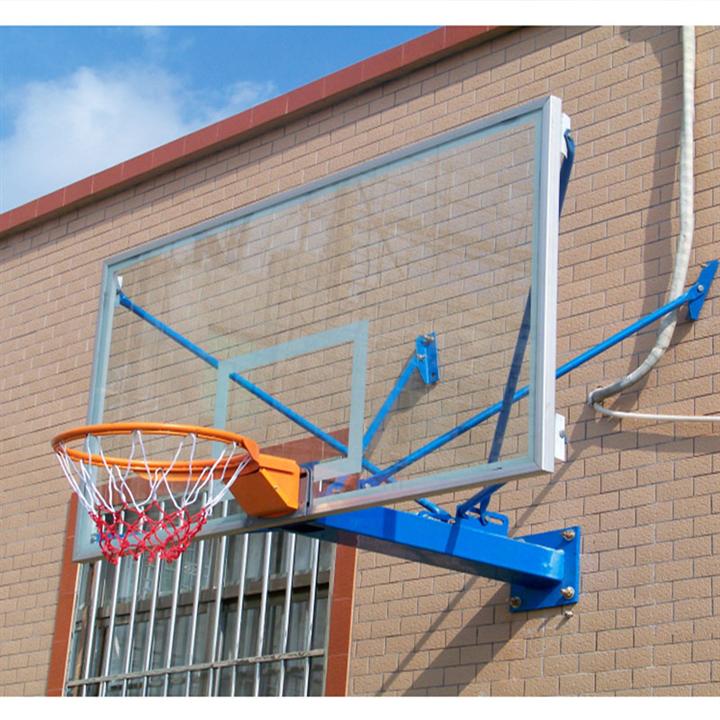 钢化玻璃篮球架 挂墙式篮球架 体育器材生产厂家