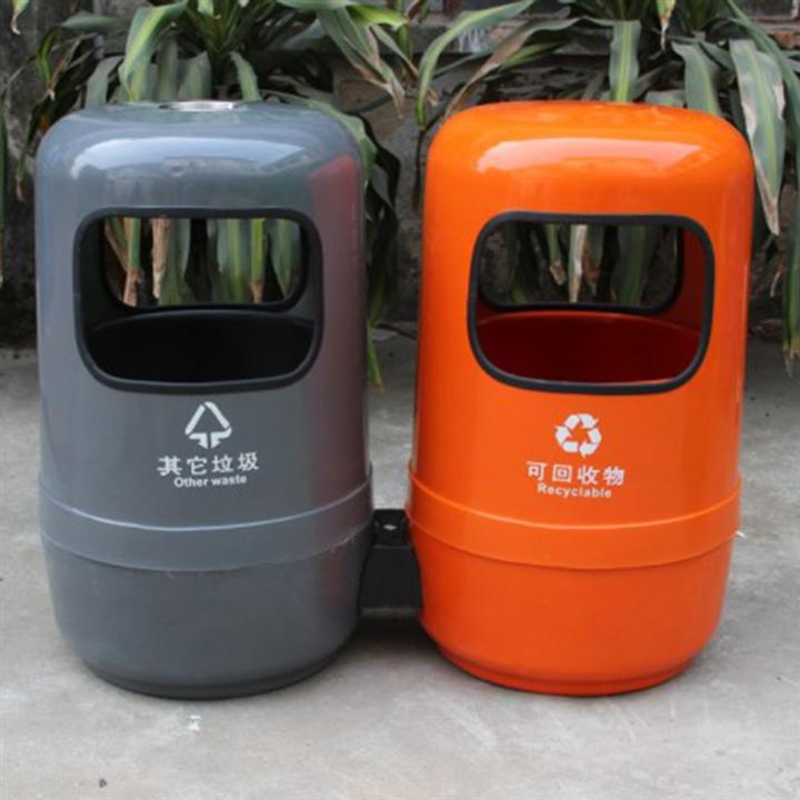 玻璃钢户外垃圾桶 分类垃圾桶  玻璃钢垃圾桶生产厂家