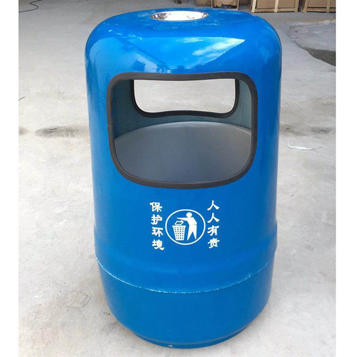 圆形玻璃钢垃圾桶 户外垃圾桶生产厂家