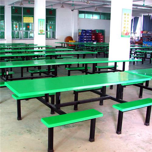 东莞八人位食堂餐桌椅