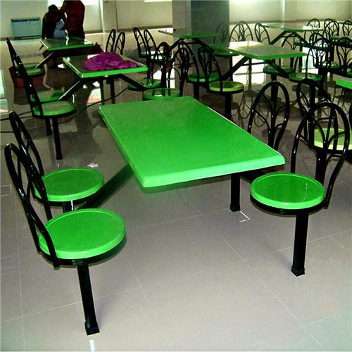 惠州四人位孔雀椅食堂餐桌椅