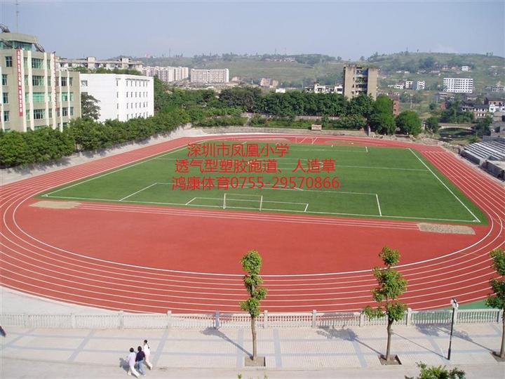 透气型塑胶跑道、足球场