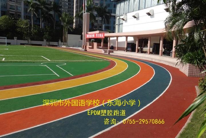 EPDM塑胶跑道 、人造草足球场